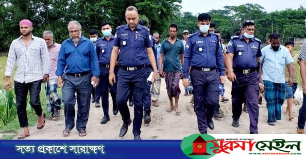 সুমেল হত্যা: ঘটনাস্থলে নবাগত ওসি গাজী আতাউর